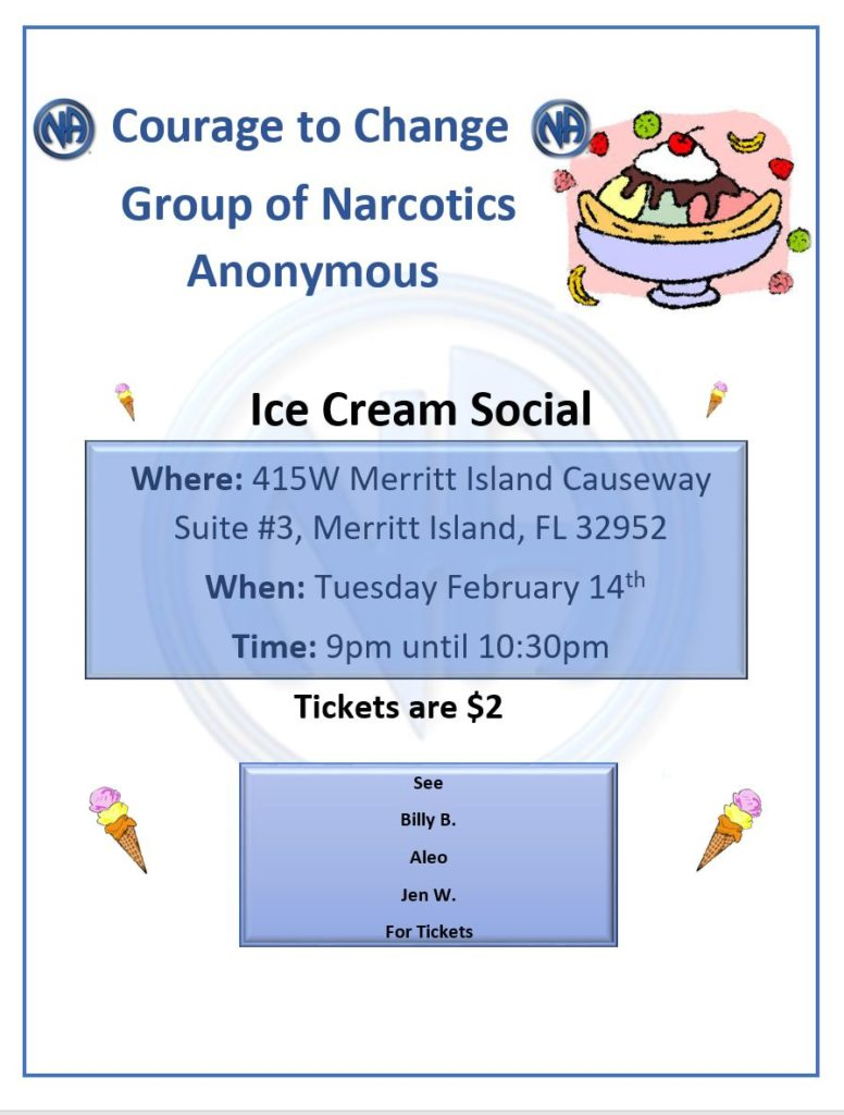 Ice Cream Social @ Courage To Change | Merritt Island | Florida | United States