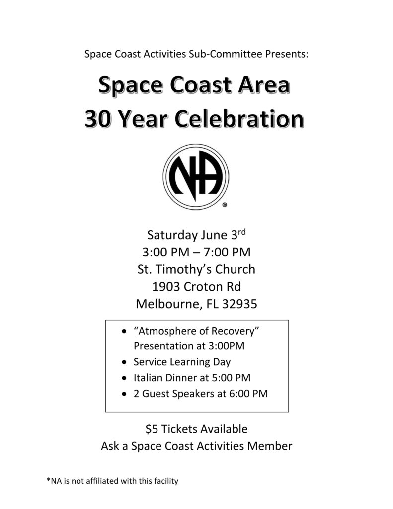 Space Coast Area 30 year Celebration!! @ St. Timothy,s Church | Melbourne | Florida | United States