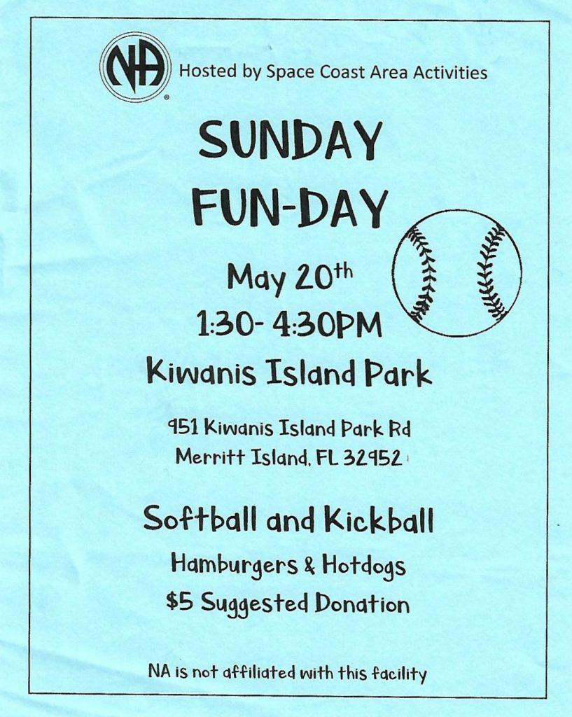 Sunday Fun-day May 20th @ Kawanis Island Park | Merritt Island | Florida | United States