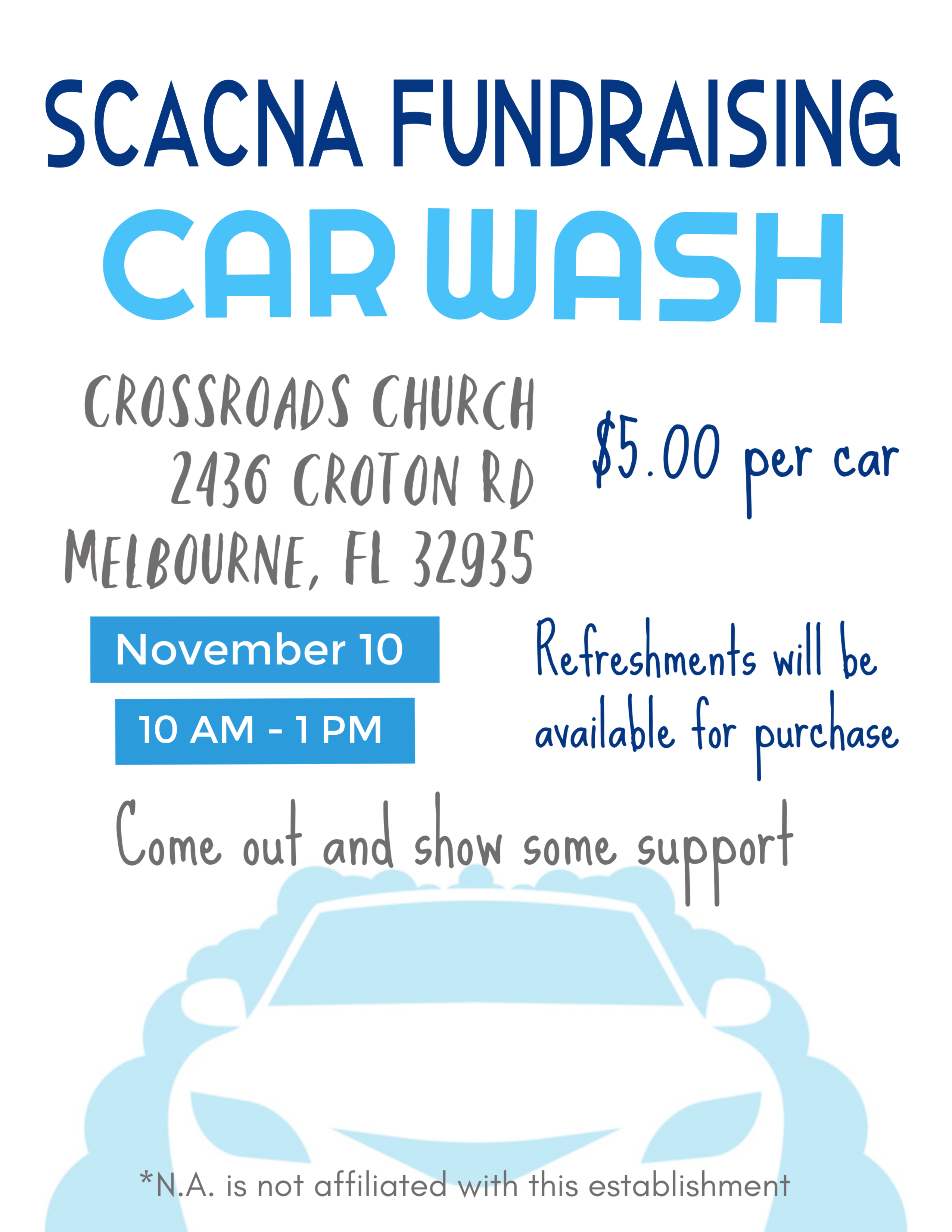 Convention Fundraising Subcommittee Car Wash @ Crossroads Church | Melbourne | Florida | United States