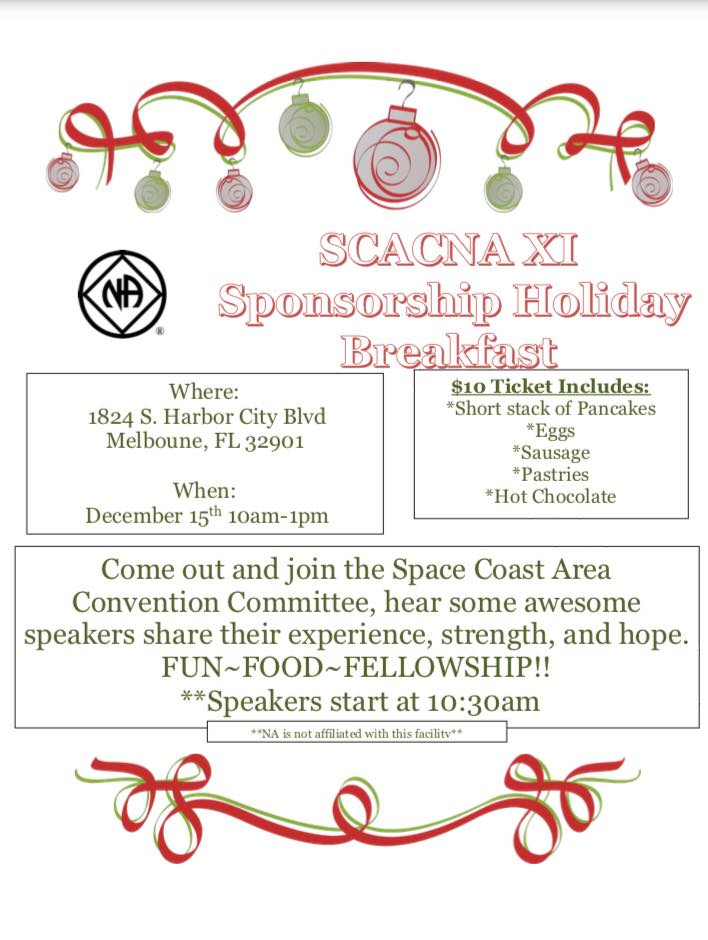 SCACNA XI Sponsorship Holiday Breakfast @ Melbourne | Florida | United States
