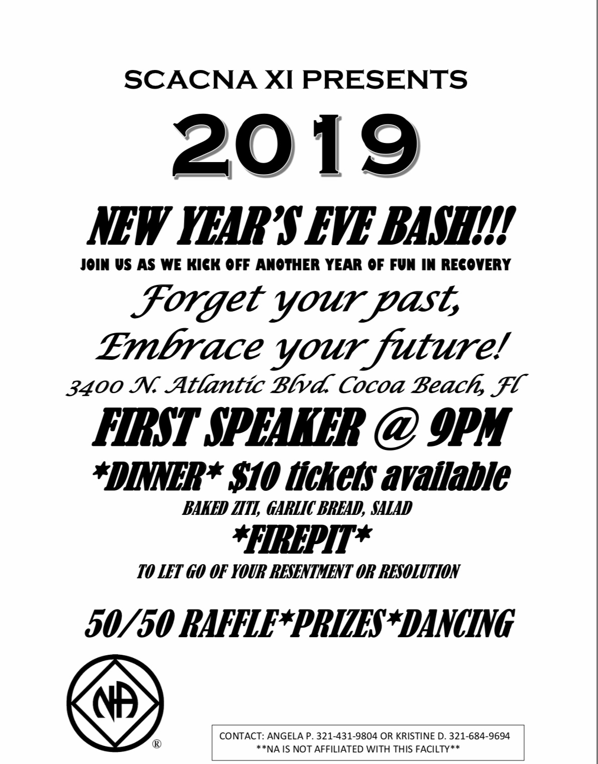 SCACNA XI New Years Eve Bash @ Riverside Presbyterian Church