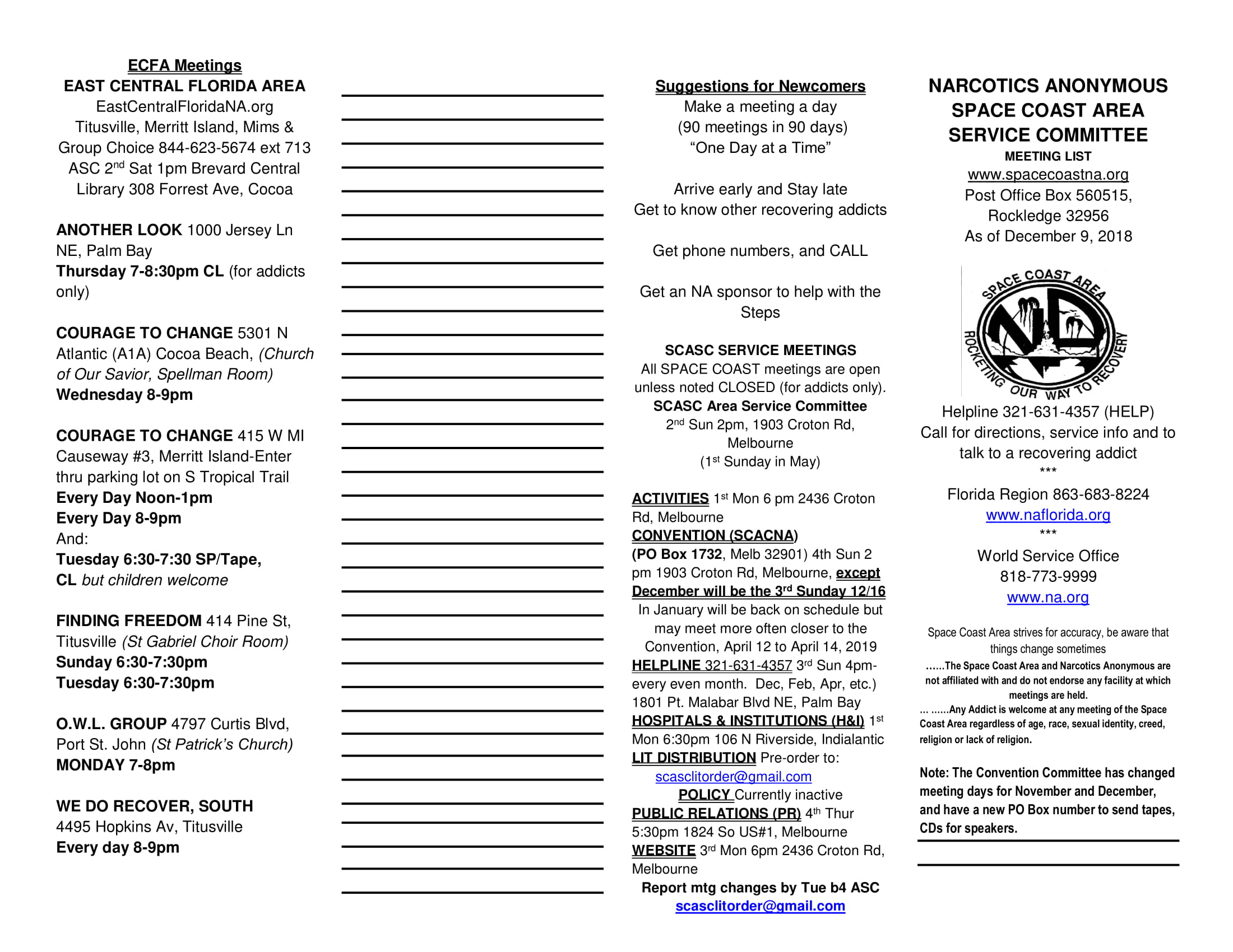 our meeting list   space coast area of narcotics anonymous