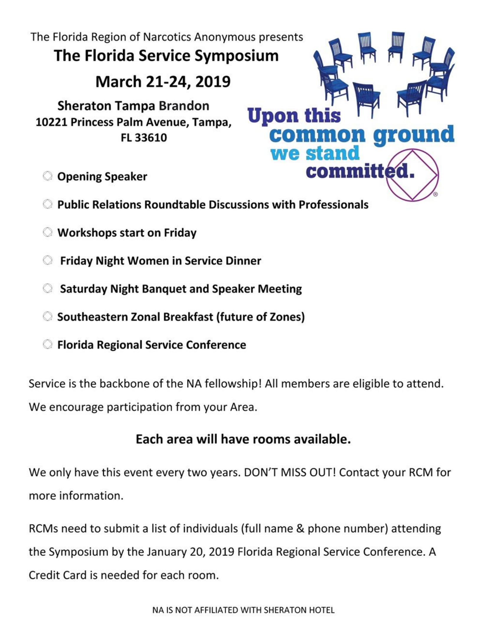 The Florida Service Symposium @ Sheraton Tampa Brandon   Tampa   Florida   United States