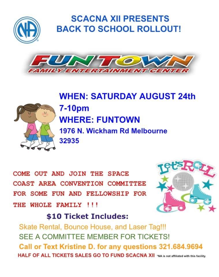 SCACNA Fundraising Funtown Event @ Melbourne | Florida | United States
